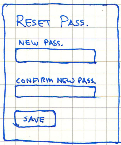 Reset Password Page Wireframe