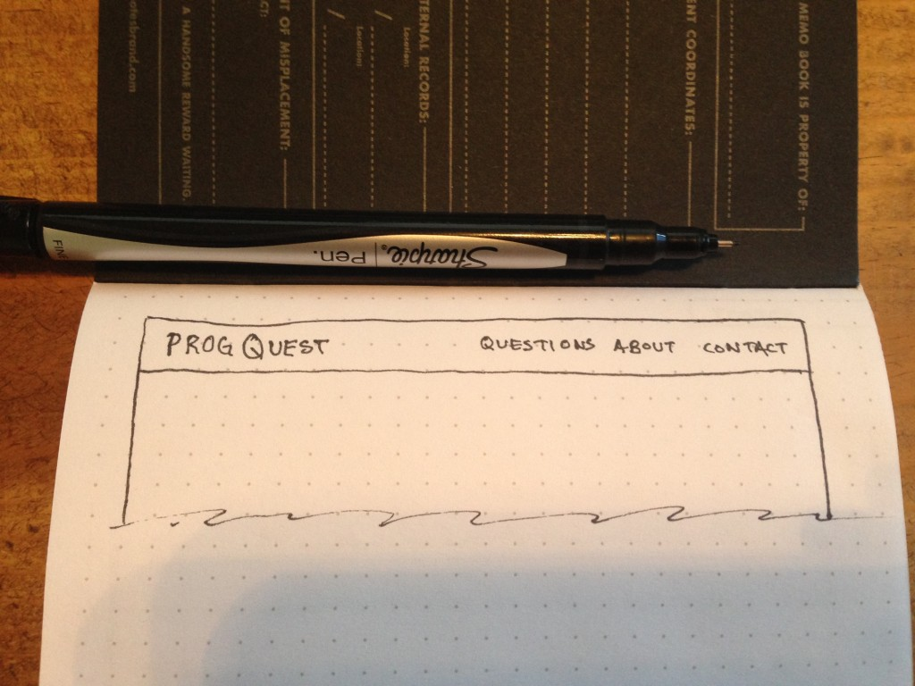 An header wireframe, for one of my recent applications