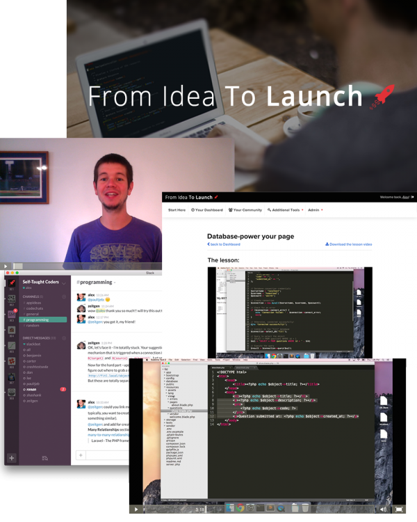 From Idea To Launch includes course videos, a private community, and more